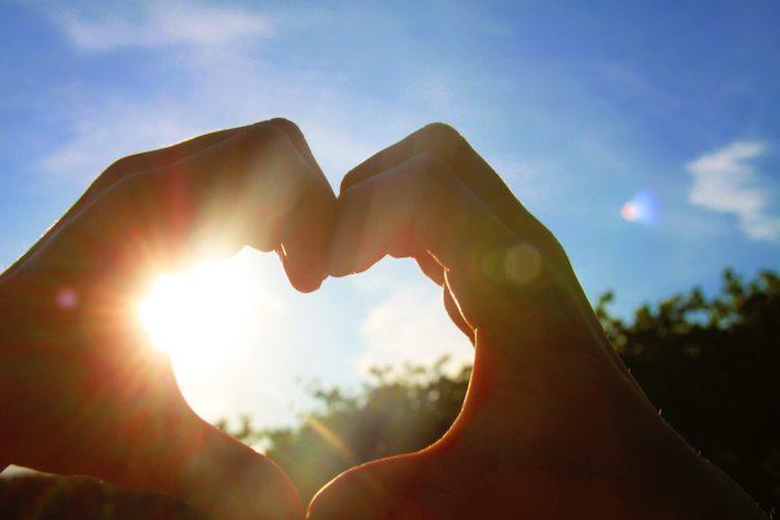 Sonne mit Herz