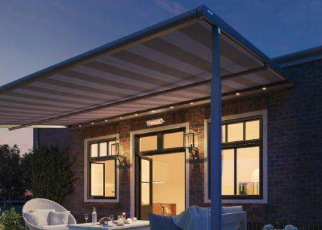 Mit der optionalen LED-Beleuchtung schaffen Sie mit ihrem angenehm warmweißen Licht auch abends eine Wohlfühlatmosphäre auf Ihrer Terrasse.