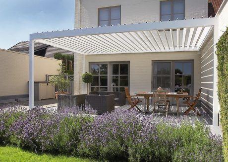 Terrassenüberdachung mit Lamellendach Renson Camargue